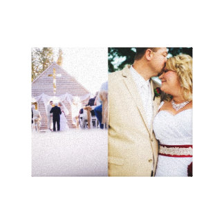 Wedding Memories Bride Groom Wrapped Canvas Stretched Canvas Print