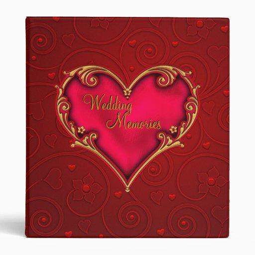 Wedding Memories Customizable Photo Album Cover Binder