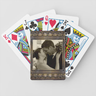 wedding memory photo cards bicycle playing cards