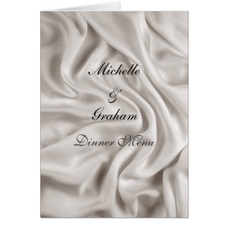 Wedding Menu Cream Wedding Set Card