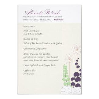 Wedding Menu - Daisy Personalized Invitations