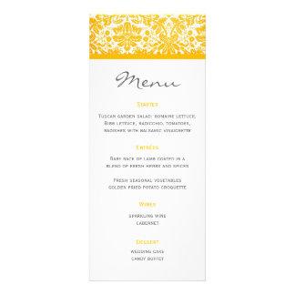 Wedding Menu Damask Custom Invites
