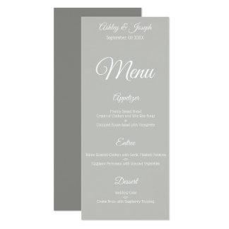 Wedding Menu - Gray Card