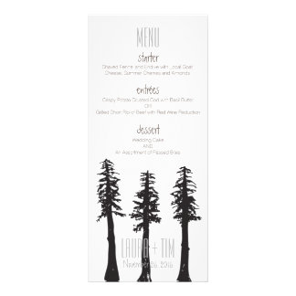 Wedding Menu Redwood Trees