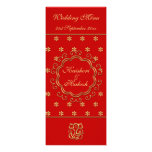 Wedding Menu Template Indian Inspired Red & Gold Personalized Announcement