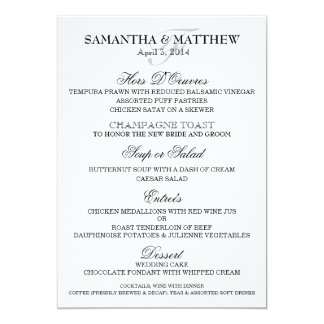 Wedding Menu Template PERSONALIZE  Formal Dinner Menu Template
