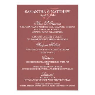 Wedding menu template PERSONALIZE Card