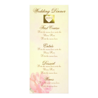 Wedding Menu | Vintage Yellow Rose Collection Invitations