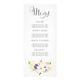 Wedding Menu Watercolor Floral Cards