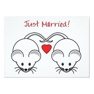 Wedding Mice White Card