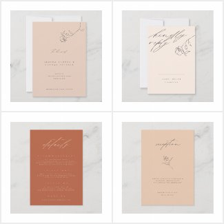 WEDDING | Minimal Fine Art Floral Blush Collection