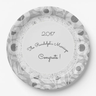 Wedding+Mod+Lace-Floral_Gray-Template-Name Paper Plate