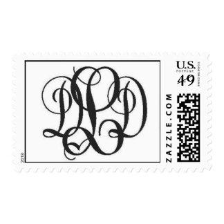 wedding mono stamp