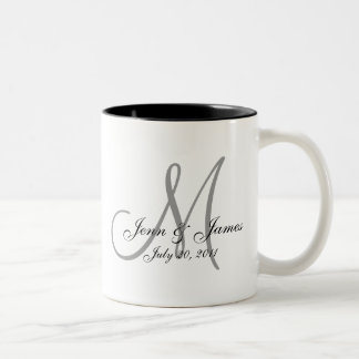 Wedding Monogram Bride Groom Date Coffee Mug