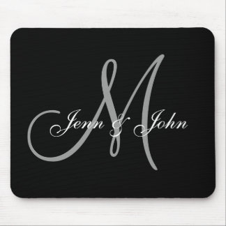 Wedding Monogram Bride Groom Names Mouse Pad