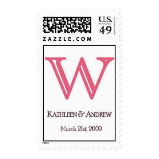 Wedding Monogram Customizable Stamp