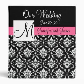Wedding Monogram Damask Planner Binders