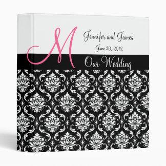 Wedding Monogram Damask Planner Keepsake Binders