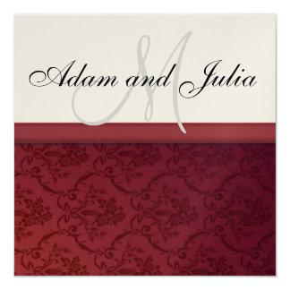"""Wedding_monogram_invitation1 Invitación 5.25"""" X 5.25"""""""