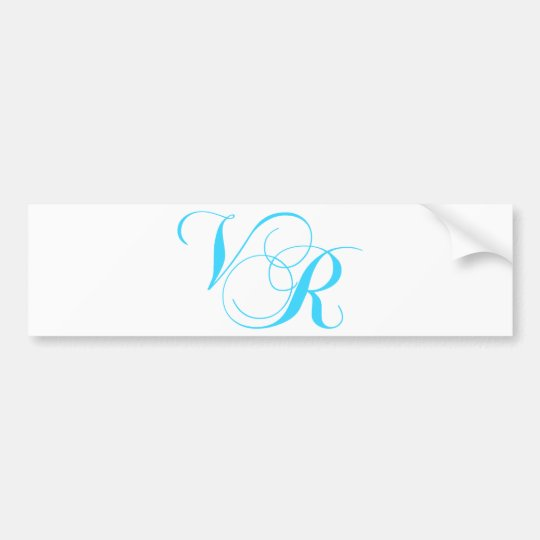 Wedding Monogram items Bumper Sticker