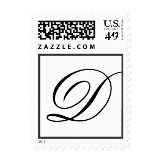Wedding Monogram Letter D Stamp