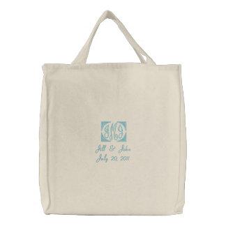 Wedding Monogram Names Date Tote Bag