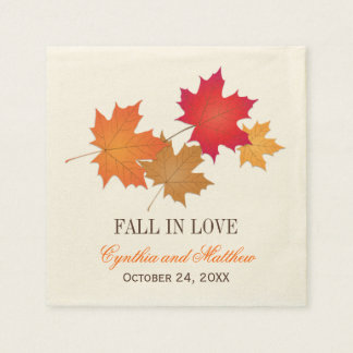 Wedding Monogram Napkins | Fall in Love
