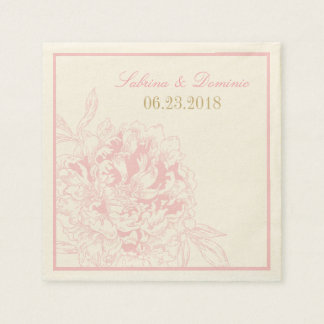 Wedding Monogram Napkins | Pink Peony Design