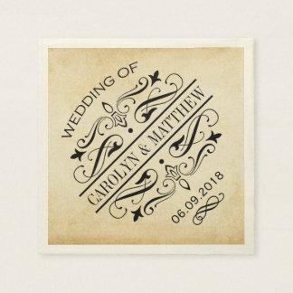 Wedding Monogram Napkins | Vintage Flourish