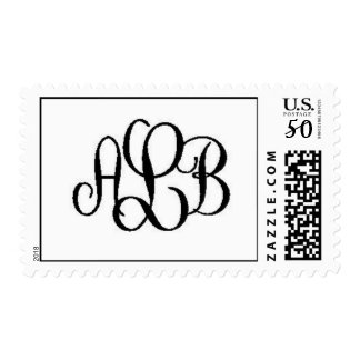 Wedding Monogram Postage