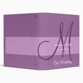 Wedding Monogram Purple Planner Photo Binder
