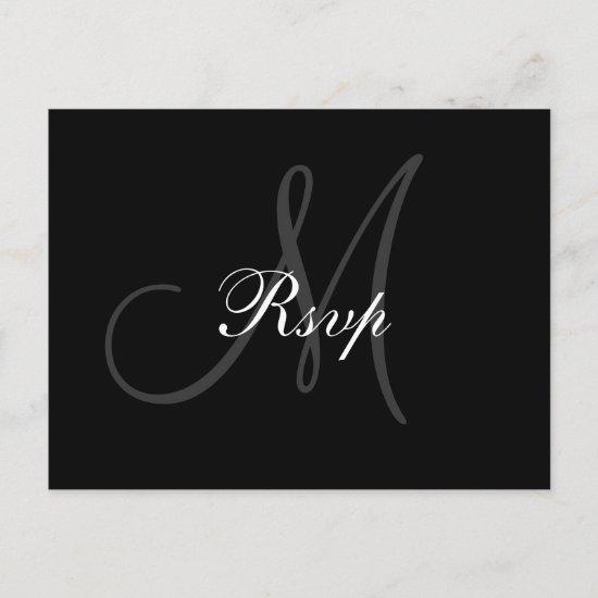 Wedding Monogram RSVP Postcard