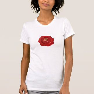 Wedding monogram seal shirts
