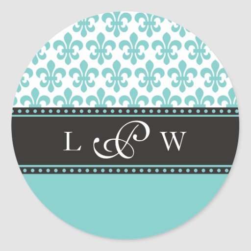 Wedding Monogram Sticker - Personalize it!