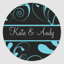 Wedding Monogram stickers