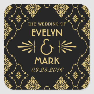 Wedding Monogram Stickers | Art Deco