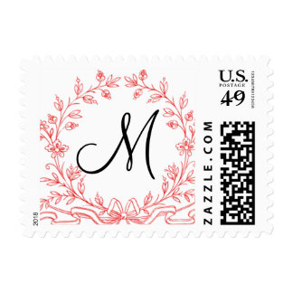 Wedding Monograms M Postage Stamps