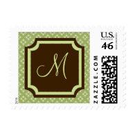 Wedding Monograms Postage Stamps