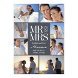Wedding Montage Wedding Announcement - Gray