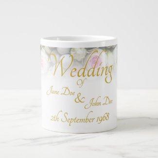 Wedding Mug - Bride with colorful wedding bouquet