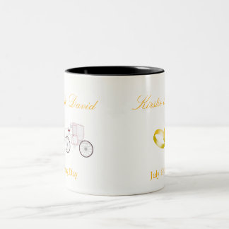 Wedding Mug with Horse and Carriage Graphic
