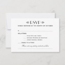 Wedding Multiple Events RSVP Card
