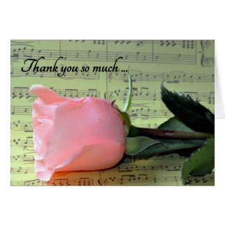 Wedding Music Thank You Card
