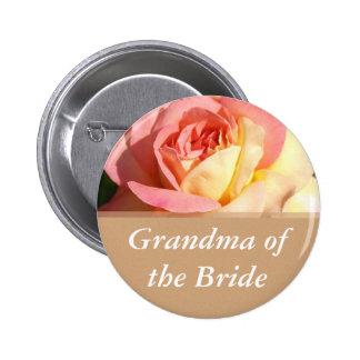 Wedding name button for grandma, grandpa, father, button