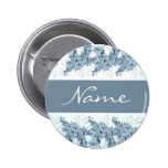 Wedding name tags - customizable blue orchids pins