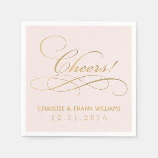 Wedding Napkins | Cheers Custom Design at Zazzle