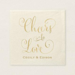 Wedding Napkins | Cheers To Love Design at Zazzle