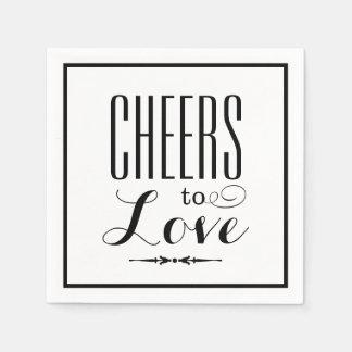Wedding Napkins Cheers to Love Design Paper Napkin