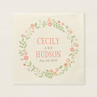 Wedding Napkins | Country Florals Pink