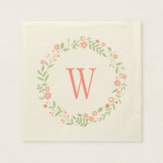 Wedding Napkins | Country Florals Pink Disposable Napkins